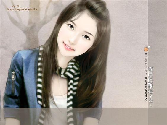 beautiful girls art | Title:Sweet Charming Faces Sweet Girls