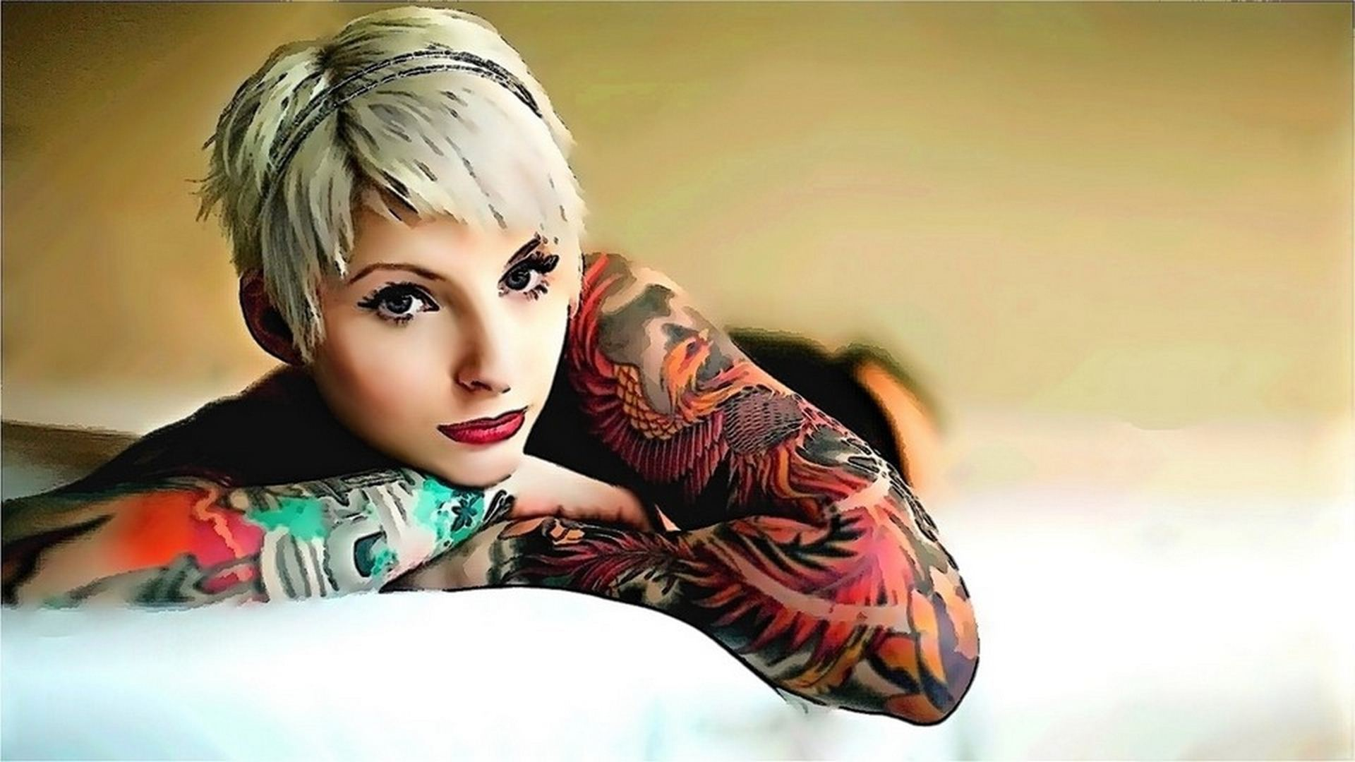 Tattooed girls wallpapers sf wallpaper tattoo girl wallpapers high quality download free voltagebd Gallery