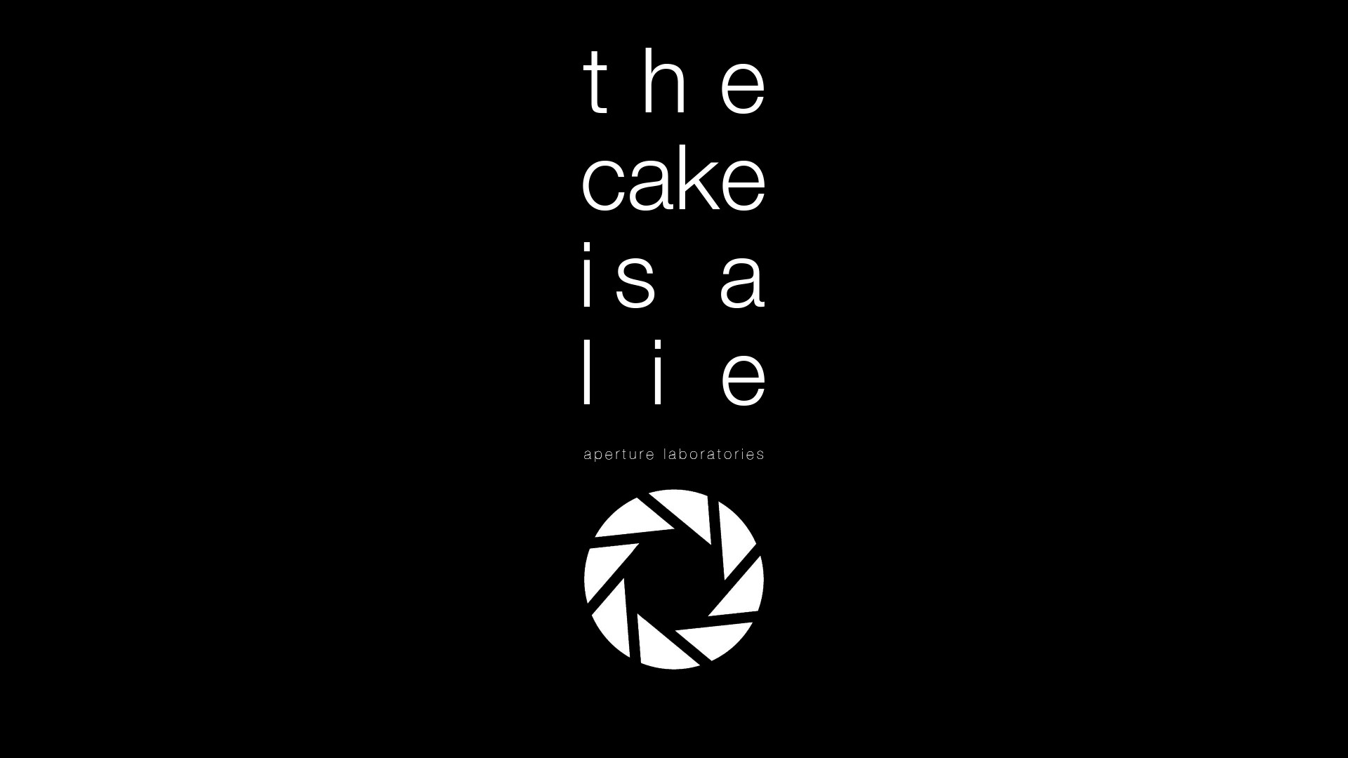 the cake is a lie wallpaper - sf wallpaper