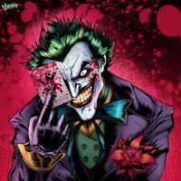 The Joker Comic Face - wallpaper