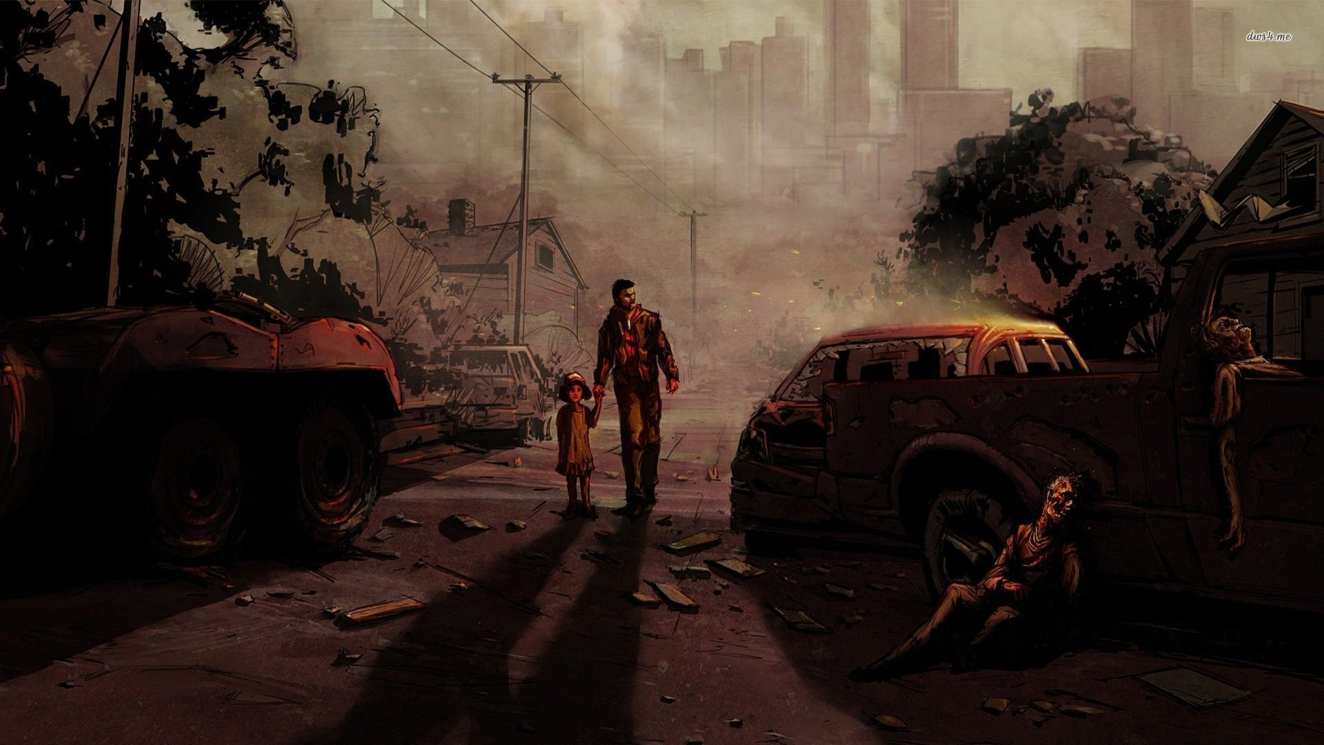 the walking dead game wallpaper - sf wallpaper