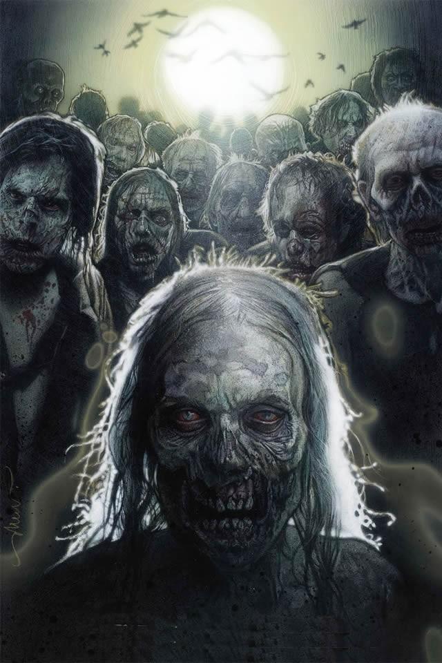 The Walking Dead Zombie iPhone Wallpaper / iPod Wallpaper HD
