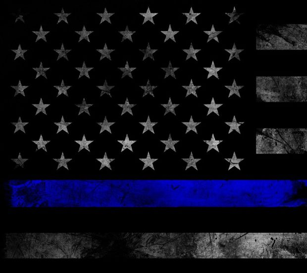 Download Thin Blue Line Flag wallpapers to your cell phone - blue