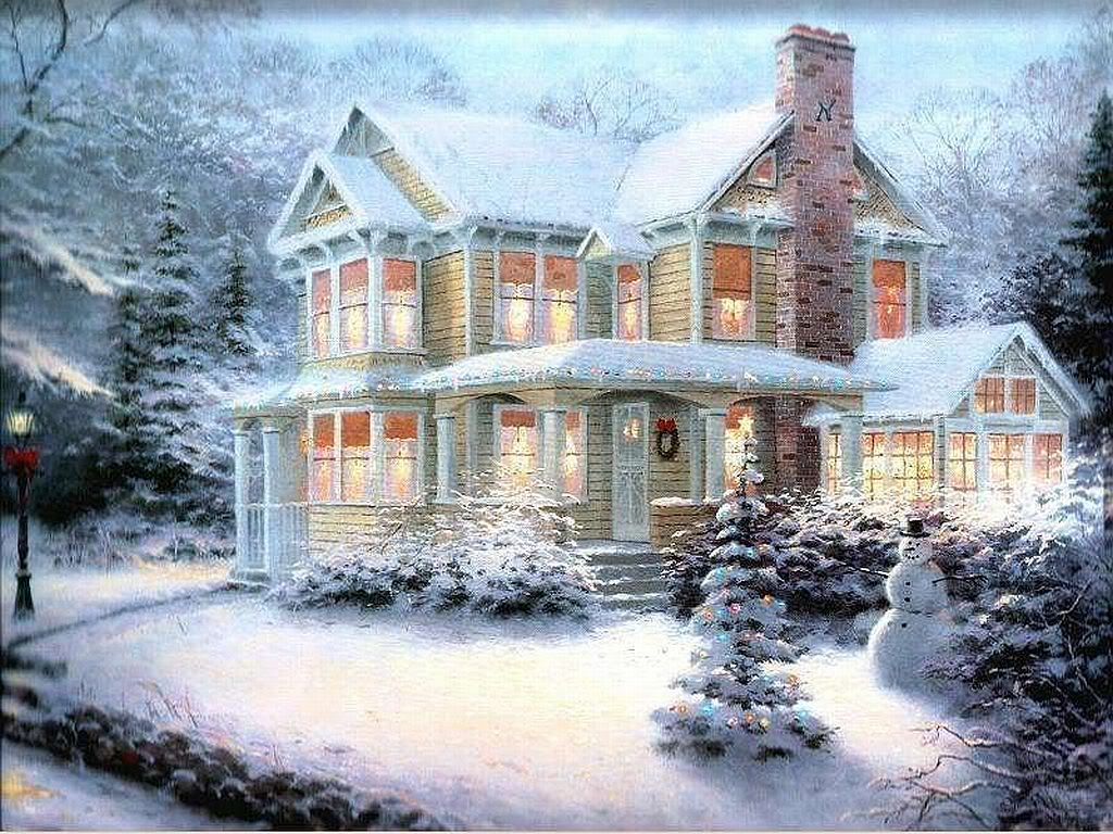 Thomas kinkade winter wallpaper sf wallpaper wallpapers voltagebd