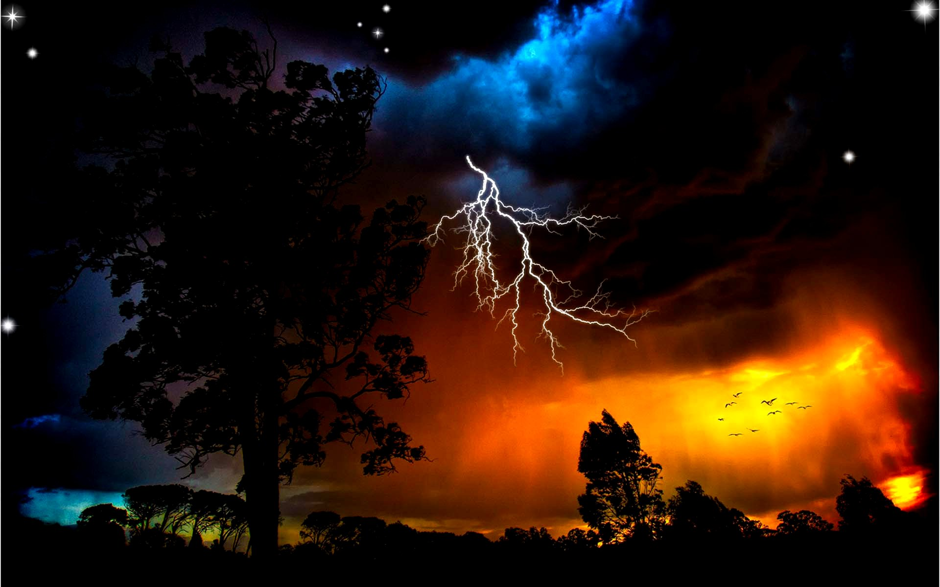 Thunder Fire HD Pictures, Thunder Storm Wallpapers - Wallpapers