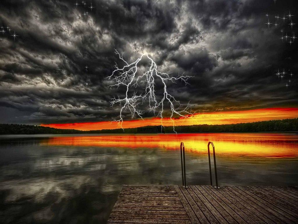 Thunderstorm Wallpaper for Computer - WallpaperSafari