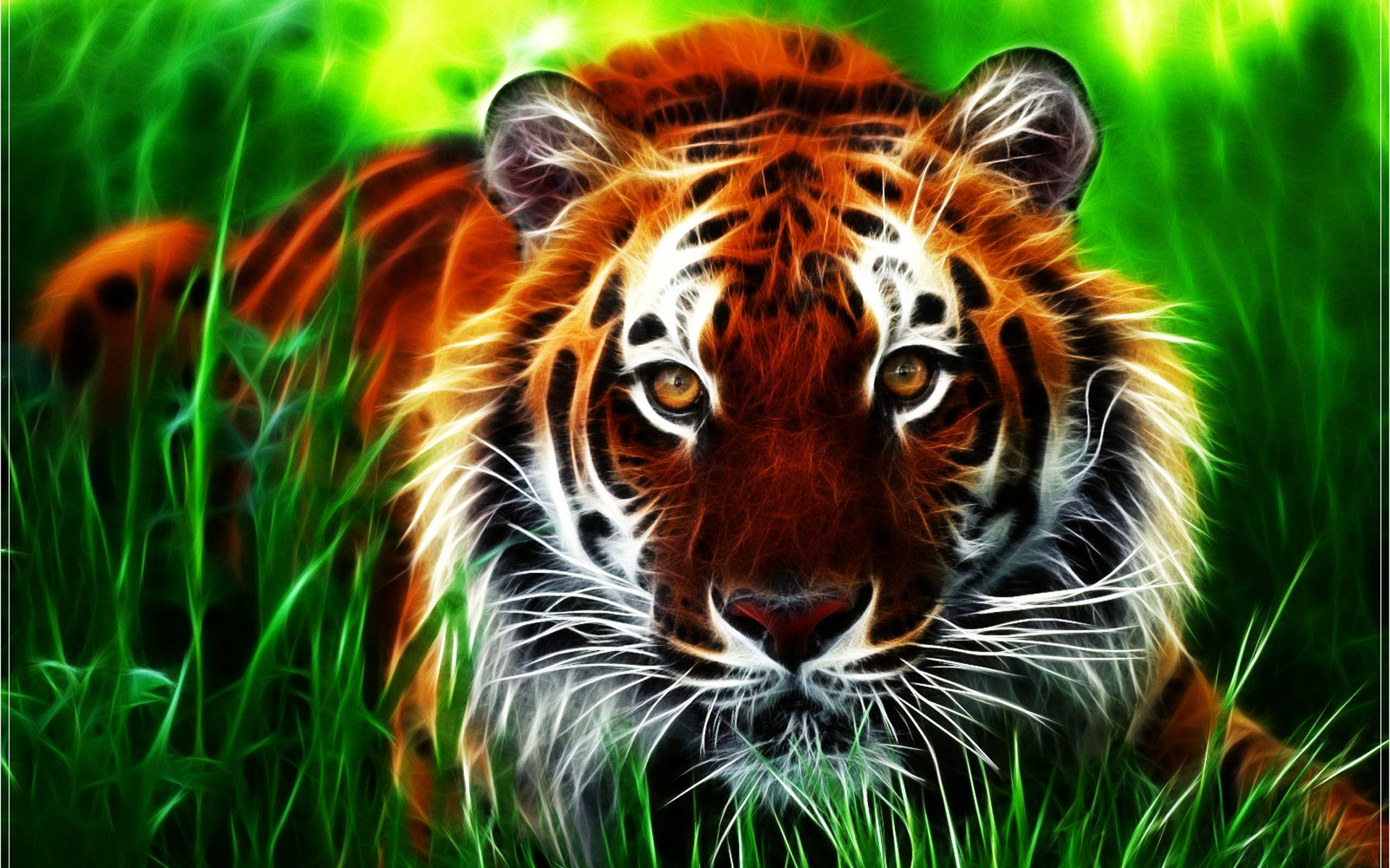 3D Tiger Face HD Wallpaper For Desktop Download High Quality