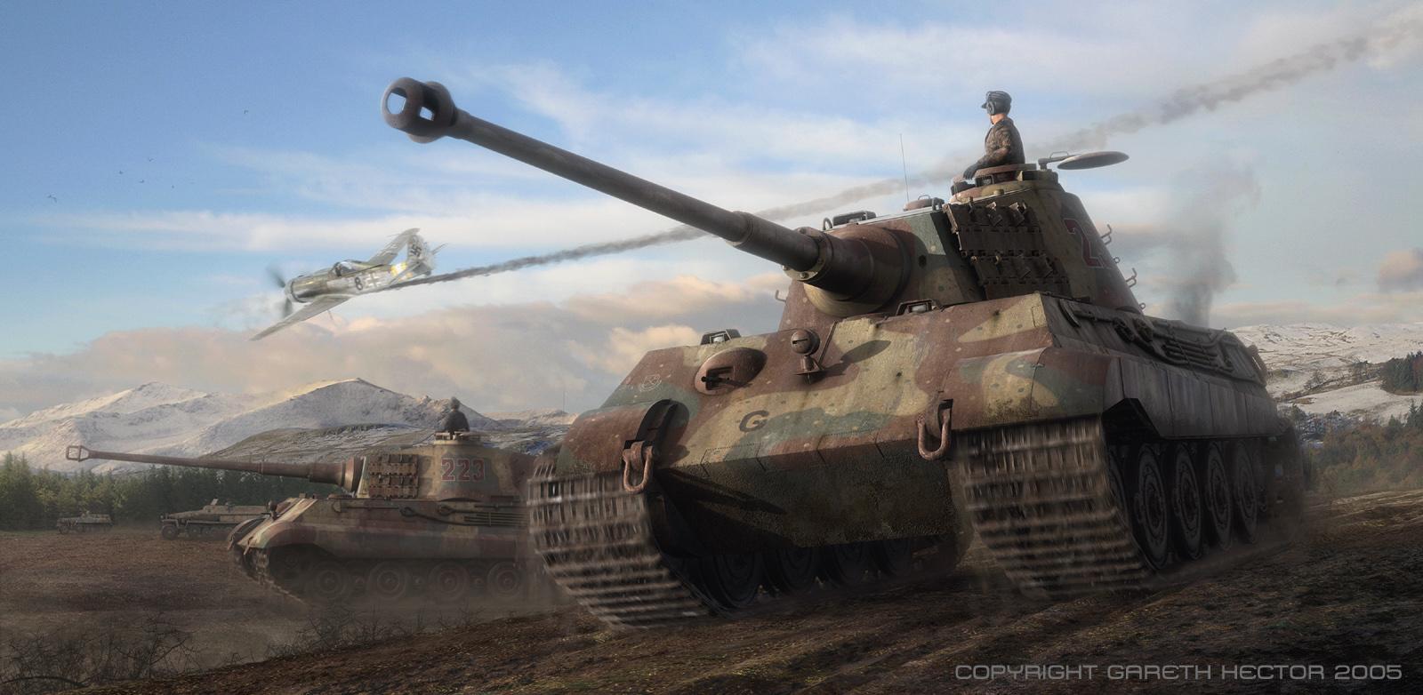 King Tiger Tank Wallpaper - WallpaperSafari