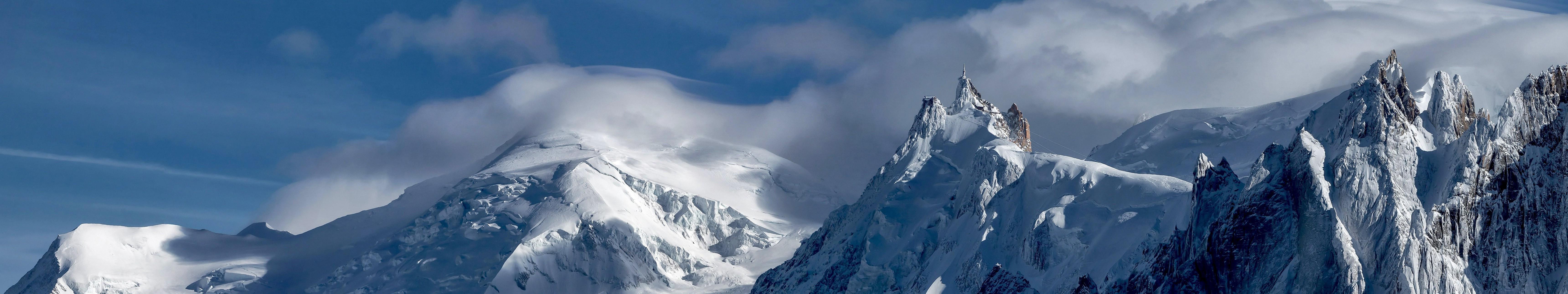 Landscape Triple Screen Snow Mountain Wallpapers HD Desktop