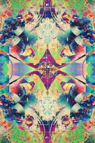 Trippy iPhone 1&2 wallpaper | Psychedelic Wallpaper | Pinterest