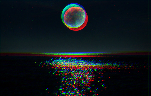 Trippy Space Background
