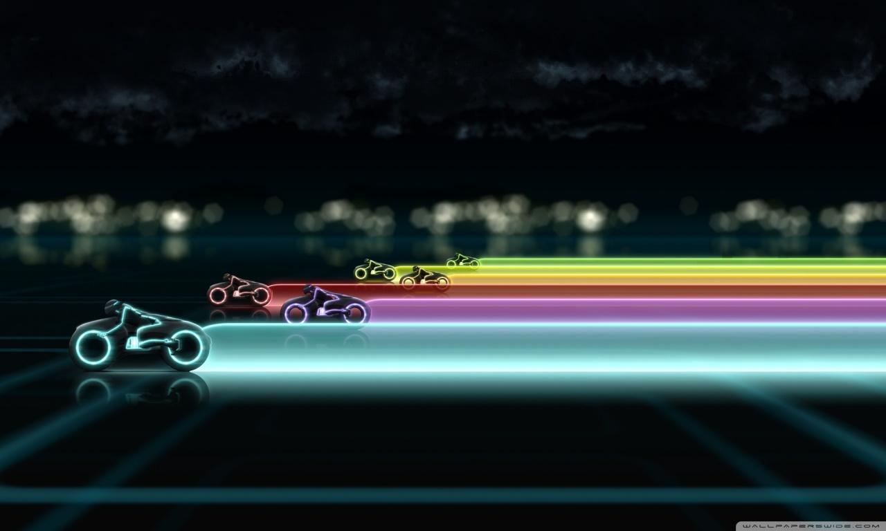 Tron Bikes HD desktop wallpaper : High Definition : Fullscreen