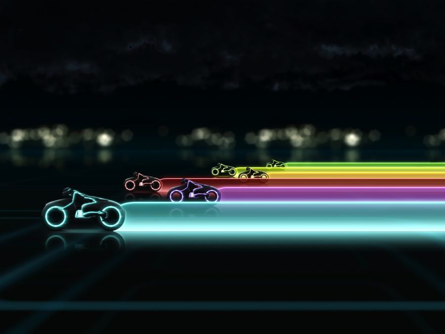 Free Wallpapers: TRON Light Cycle Race Wallpaper | Movies