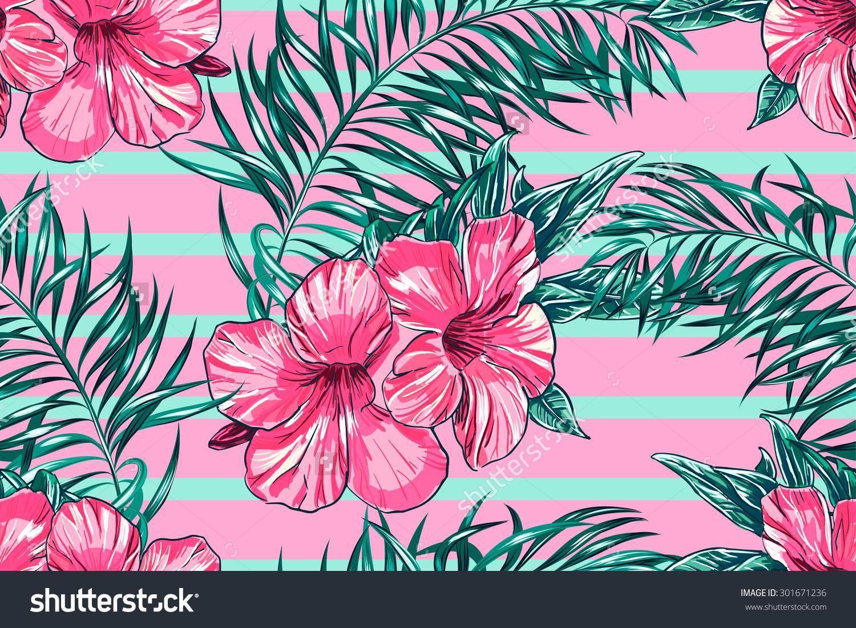 Tropical Print Wallpaper Sf Wallpaper