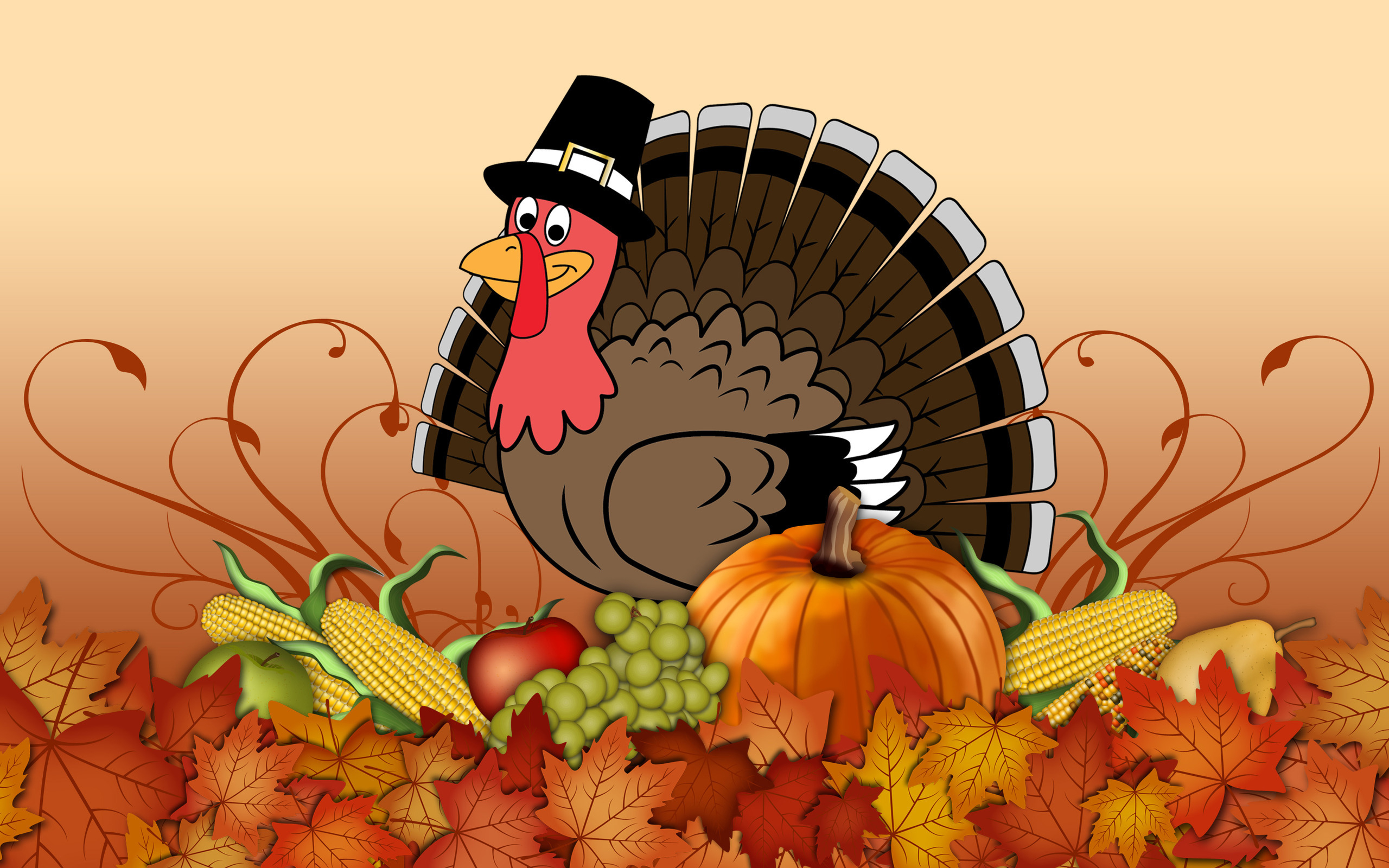 Happy-Thanksgiving-Turkey-wallpaper - Suburban Toppers