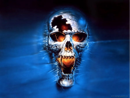 Vampire Skull - Fantasy & Abstract Background Wallpapers on