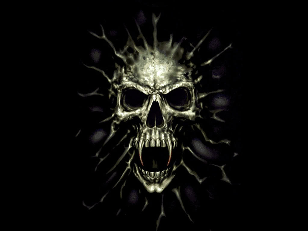 Vampire Skull Wallpaper - WallpaperSafari