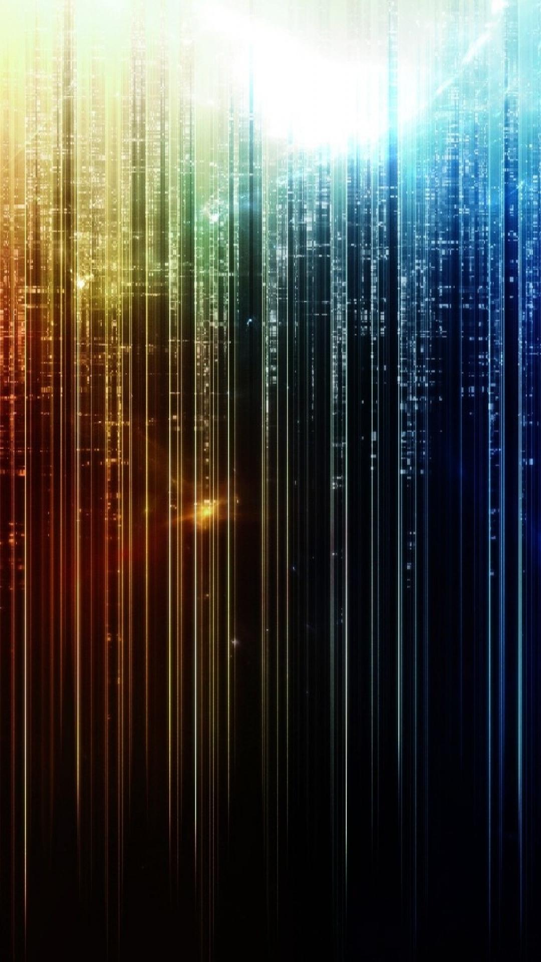 Download Wallpaper 1080x1920 Line, Multi-colored, Vertical, Light