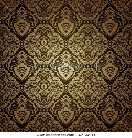 Victorian Wallpaper Patterns | Seamless Wallpaper Pattern, Dark