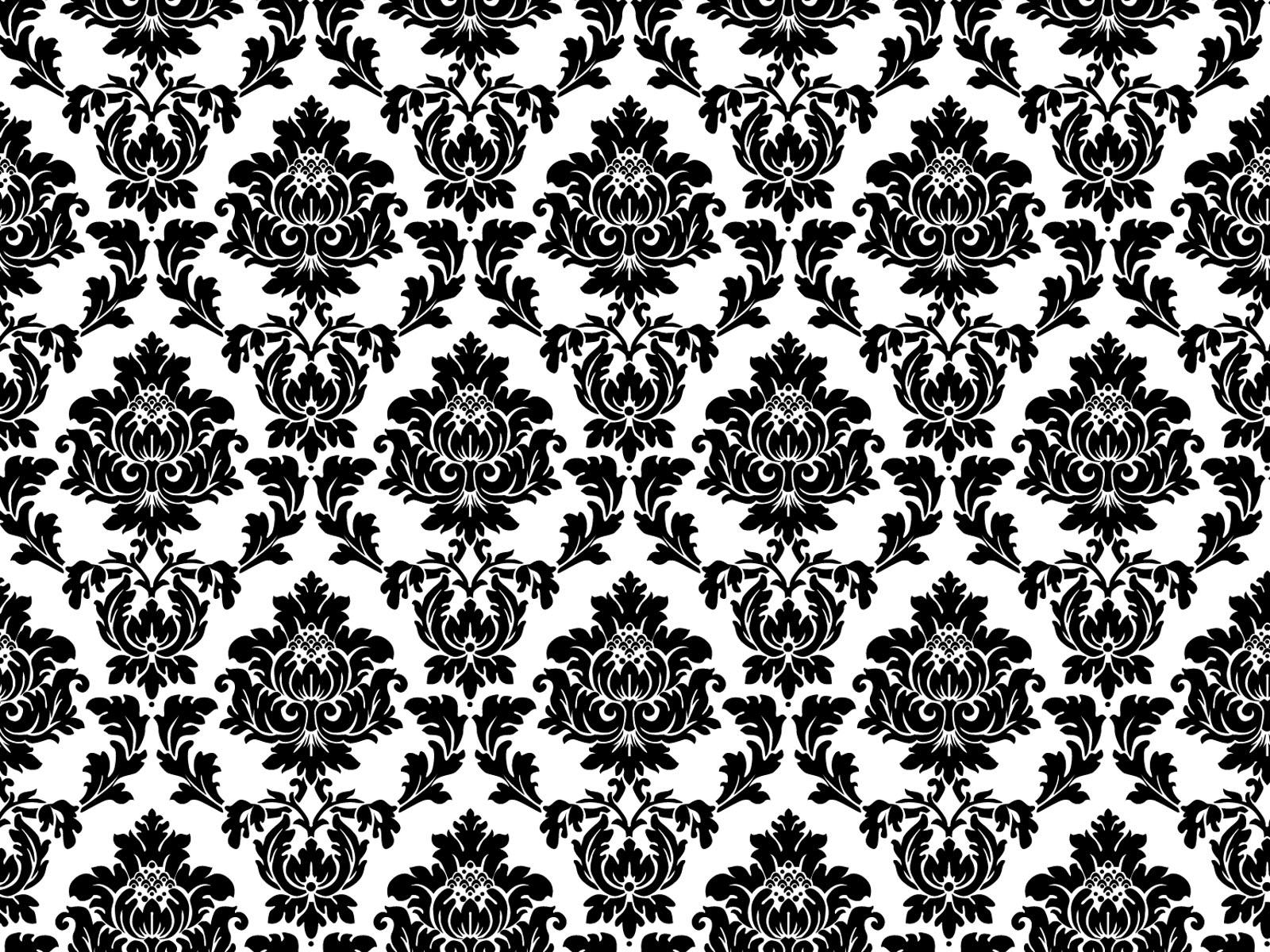 Black And White Wallpaper Vintage Design Art