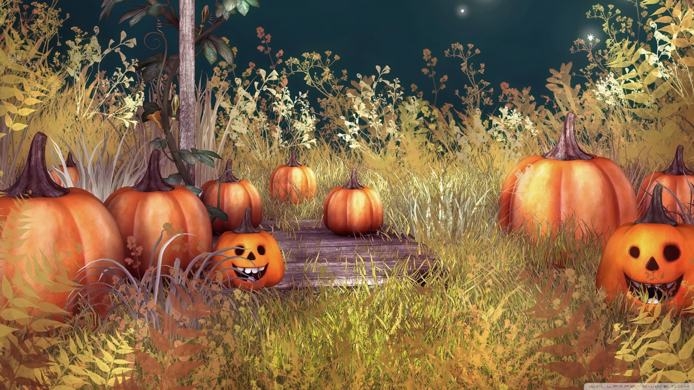 Halloween Pumpkins HD desktop wallpaper : High Definition : Mobile
