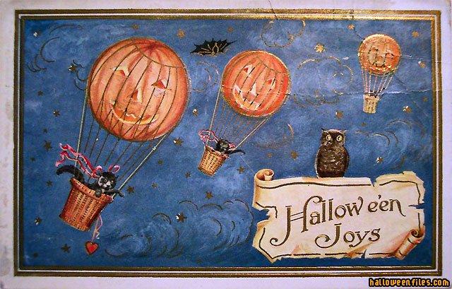 Vintage - Horizontal Postcards - Vintages - Halloween Wallpaper