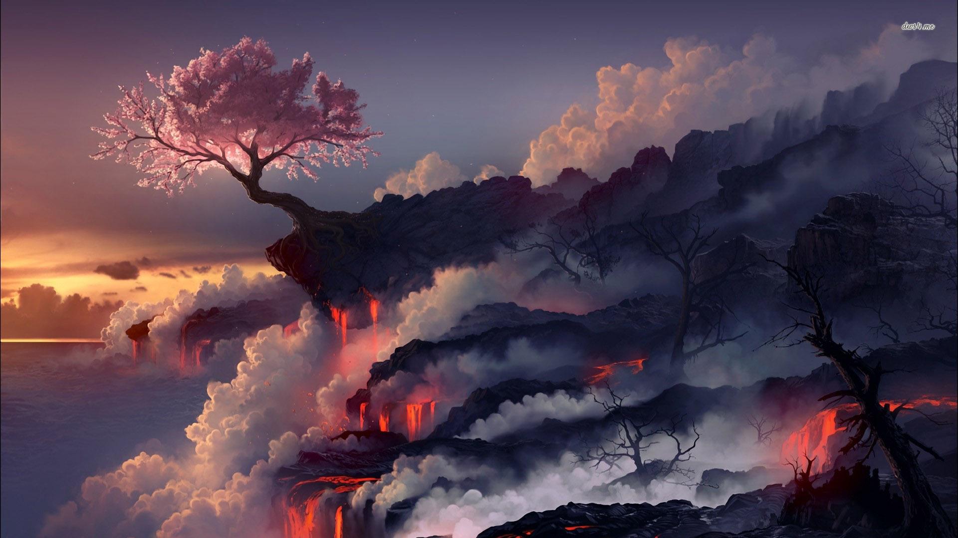 33 units of Volcano Wallpaper