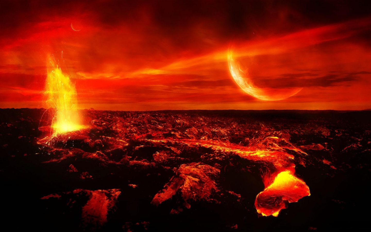 HD Volcano Wallpaper 1920x1080p - WallpaperSafari
