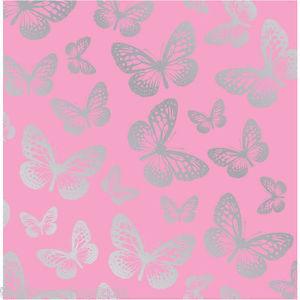 Fun4walls Pink Amp Silver Butterflies Butterfly Wallpaper Girls