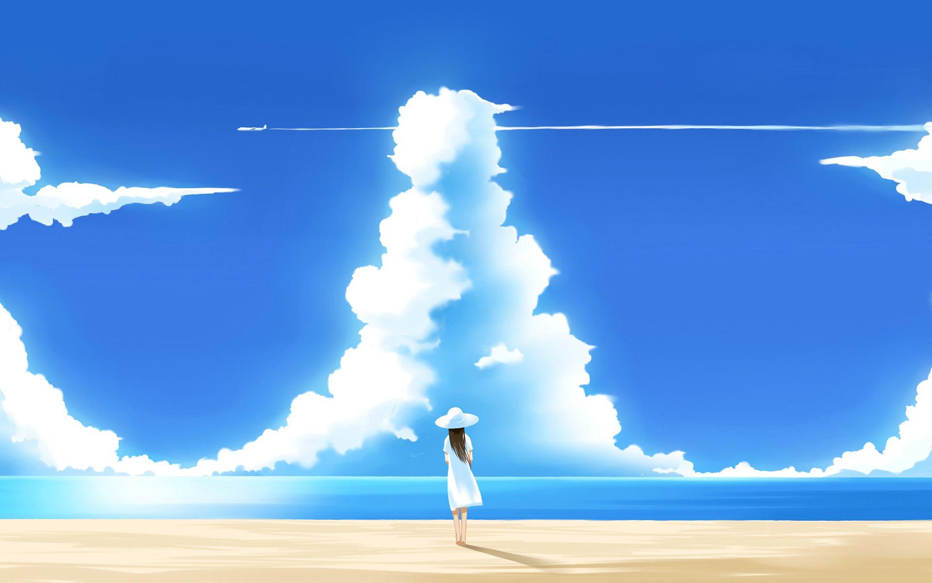 Wallpaper sky blue background