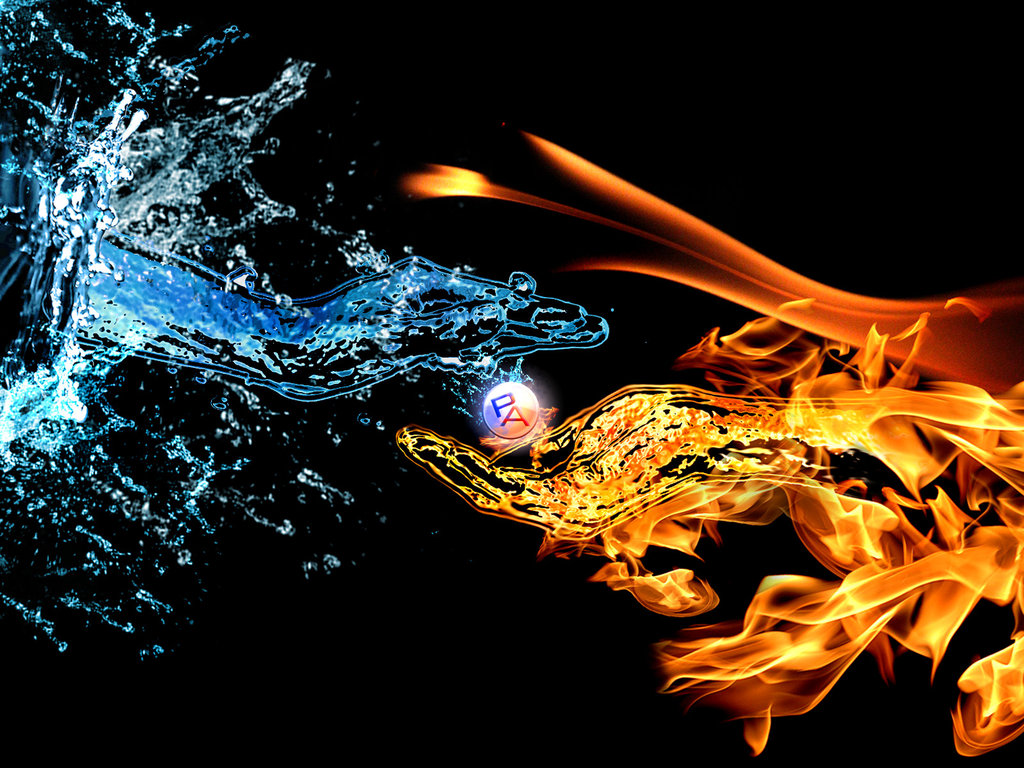 Water and fire wallpaper sf wallpaper cool fire and water wallpaper wallpapersafari voltagebd Choice Image