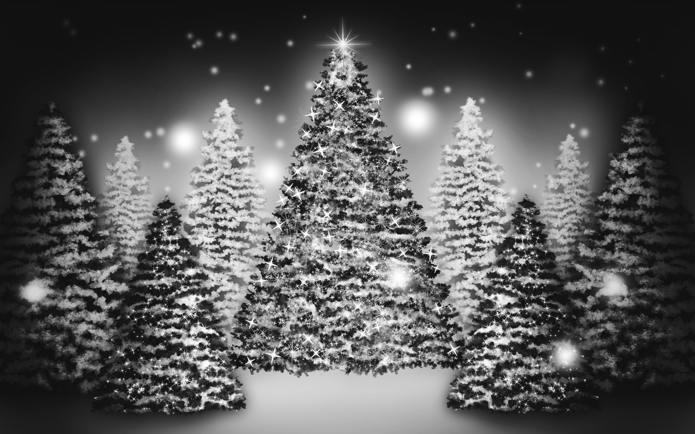white christmas tree wallpaper - sf wallpaper