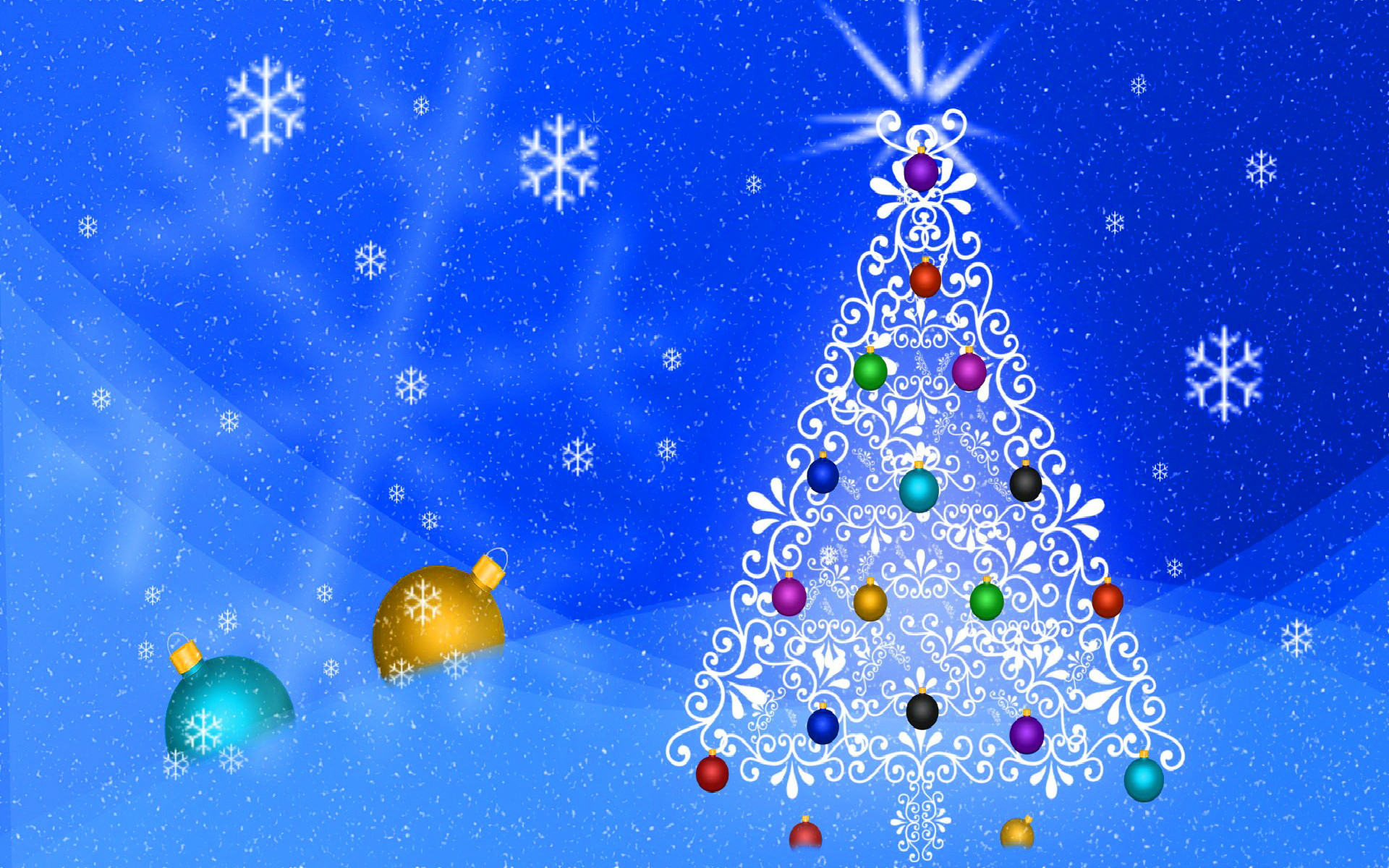 white christmas tree wallpaper - sf wallpaper