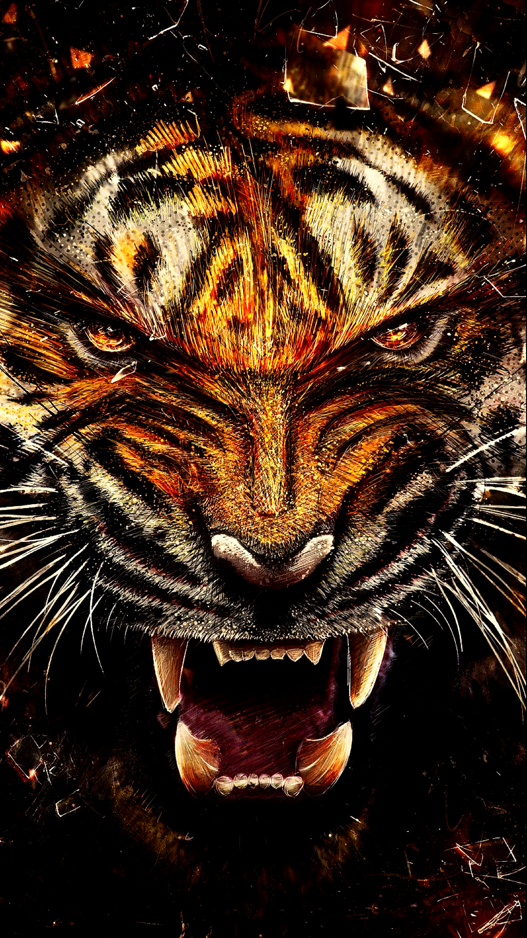 Wild Tiger Free Samsung Galaxy S5 Wallpaper