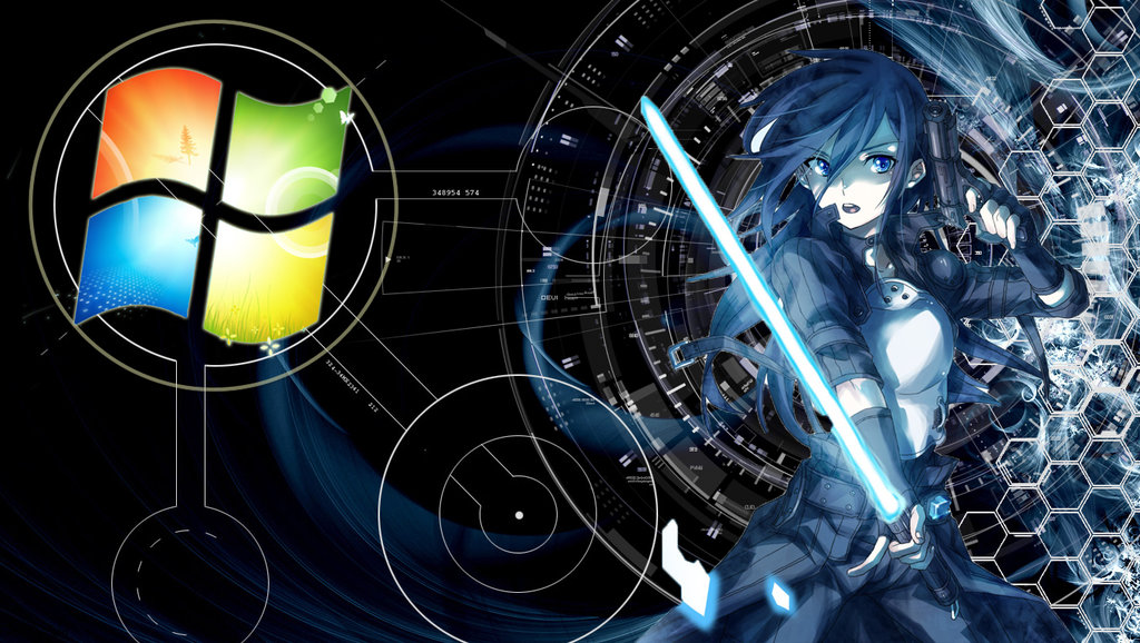 Windows 7 Anime Wallpaper Sf Wallpaper
