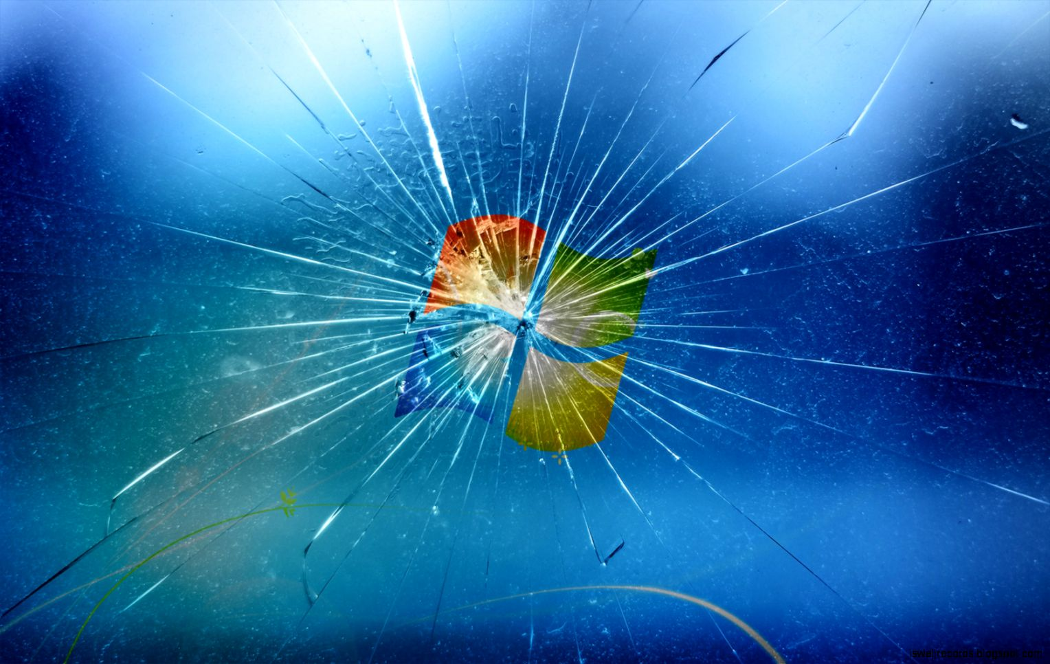 Windows 7 Cracked Screen Wallpaper | Wallpapers Records