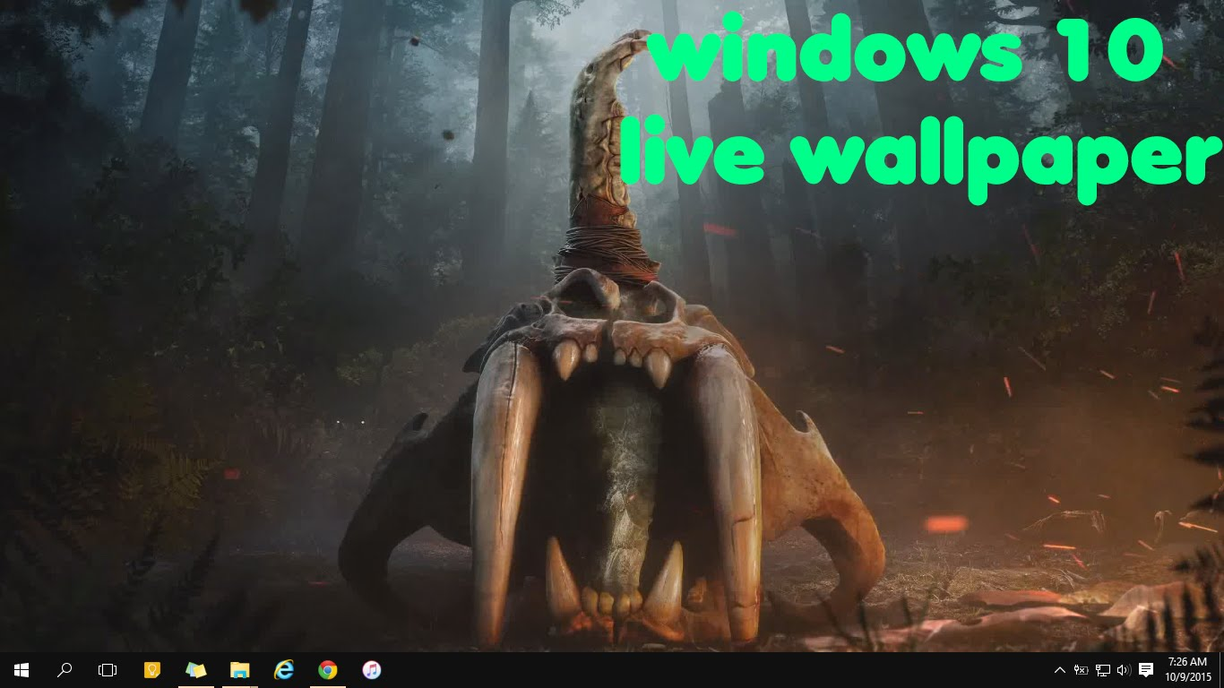 How to set live wallpaper on windows 10 live wallpapers - YouTube
