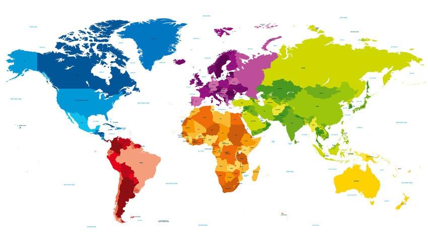 World Map Desktop Wall Paper World Map Atlas
