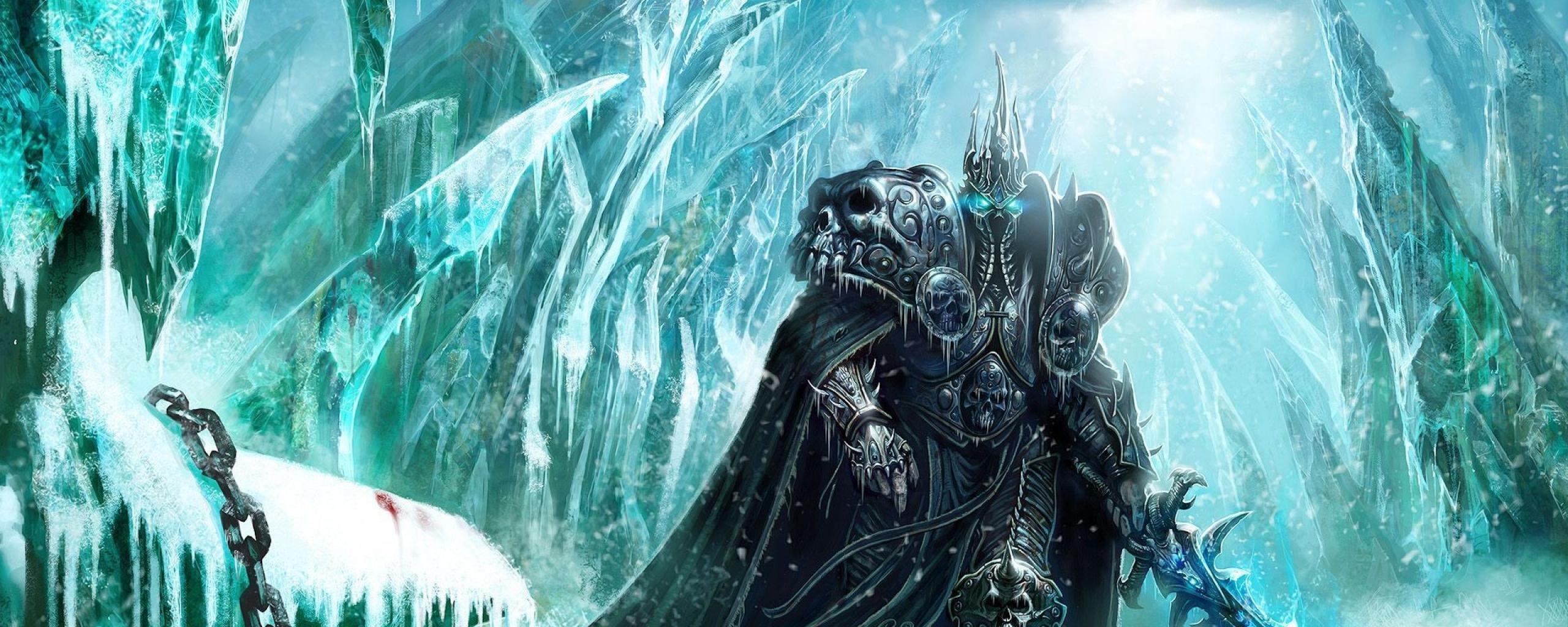 Download Wallpaper 2560x1024 World of warcraft, Lich king, Sword