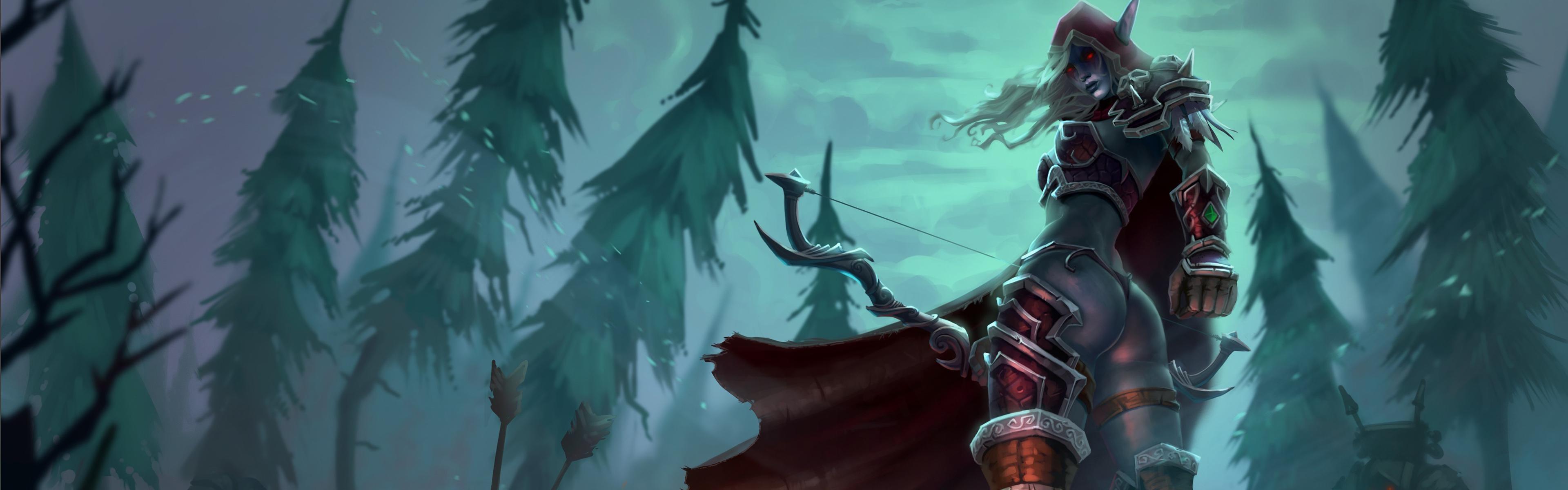 World Of Warcraft Dual Monitor Wallpaper