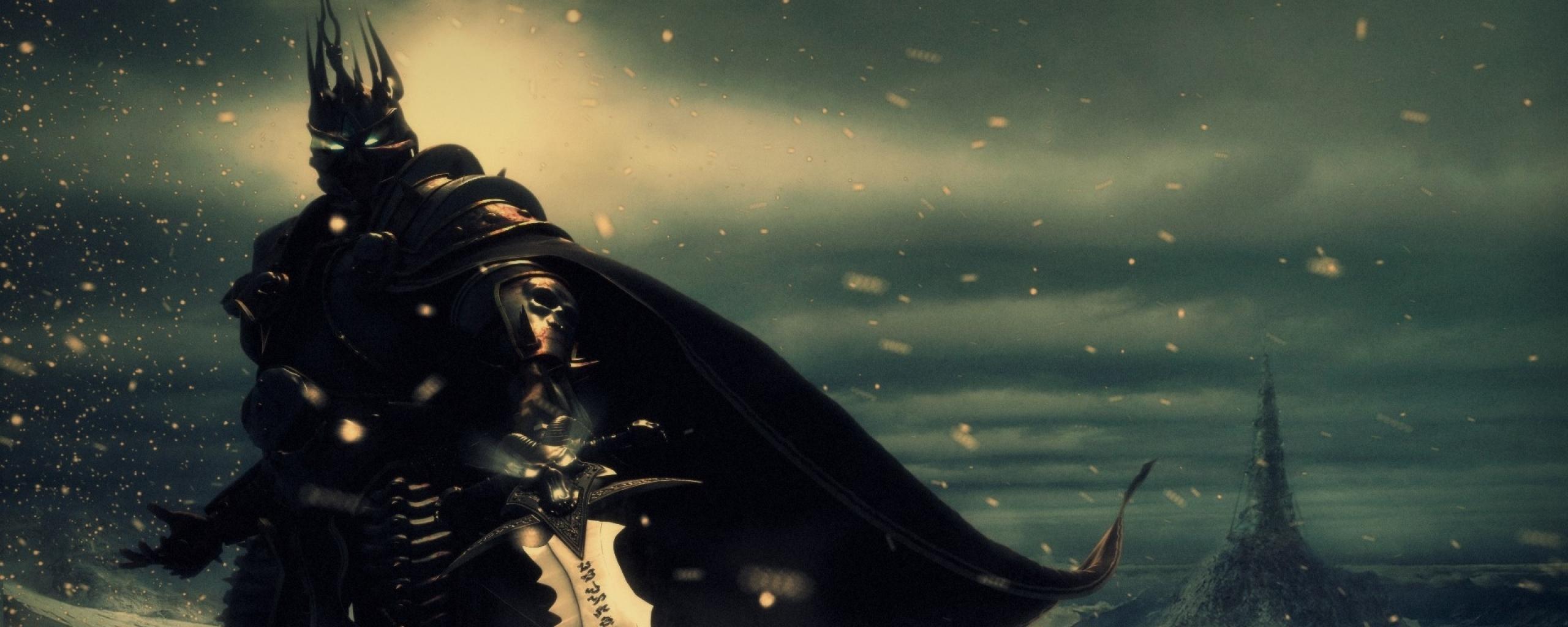 Download Wallpaper 2560x1024 World of warcraft, Blood elf, Energy
