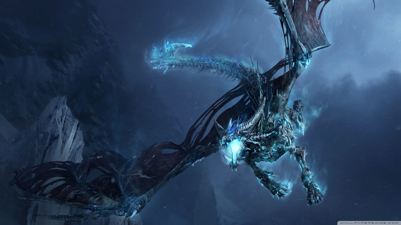 World Of Warcraft Ice Dragon HD desktop wallpaper : Widescreen