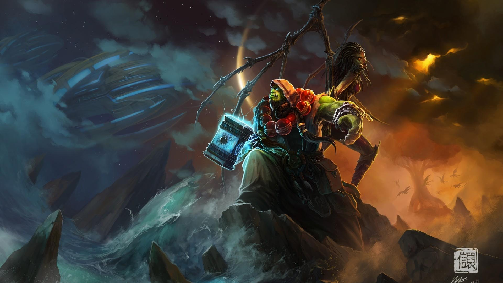World of Warcraft Ocean Shaman Wallpaper | World of Warcraft Geek