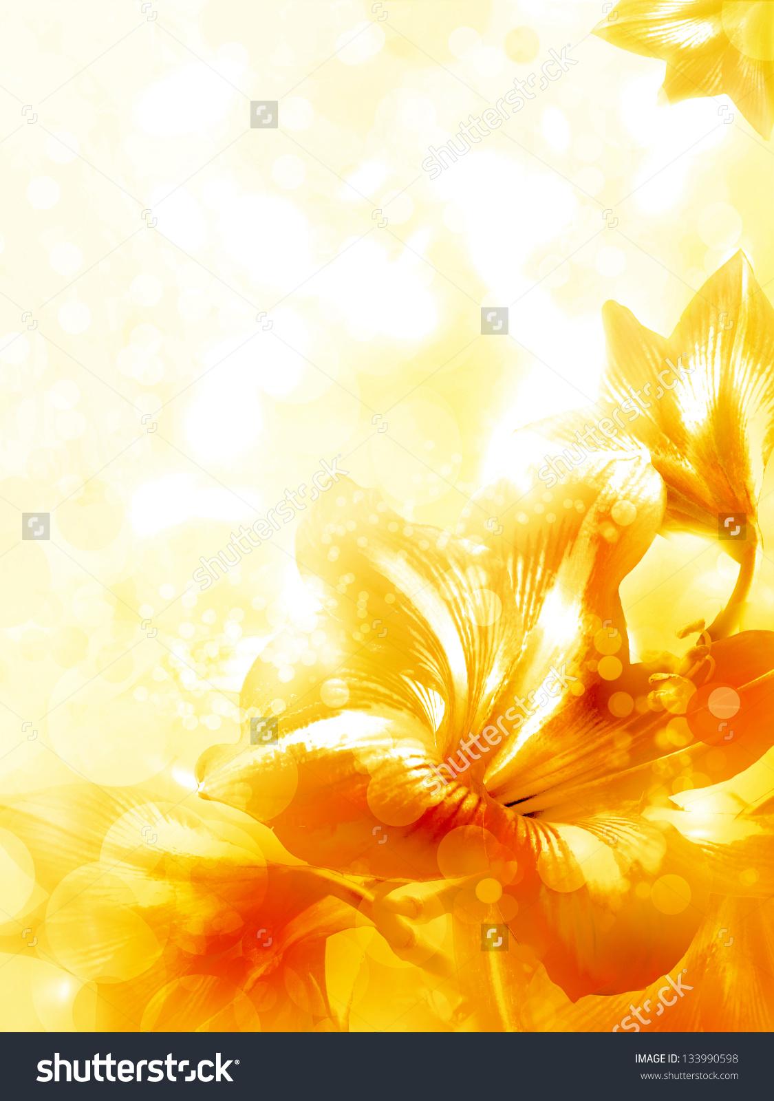 Yellow Flower Background Sf Wallpaper