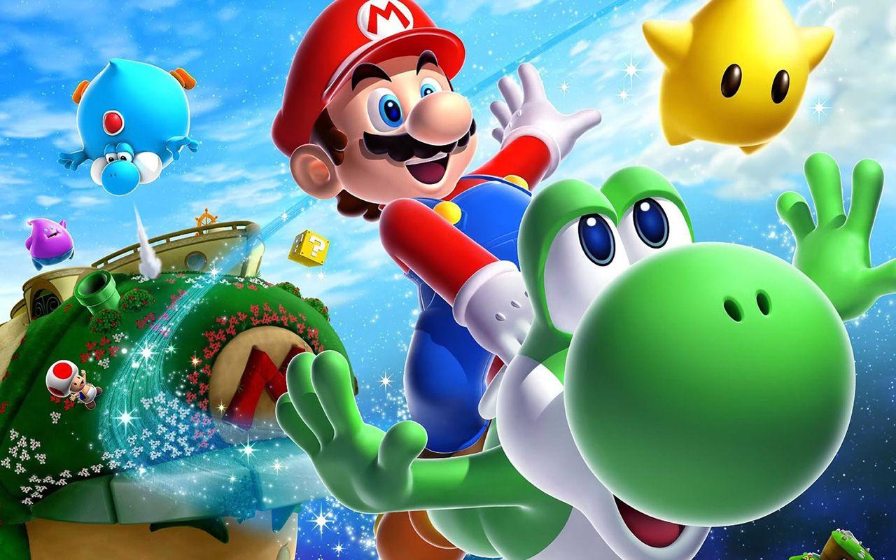 Super Mario With Yoshi Wallpaper 1280×800 - Super Mario Wallpapers