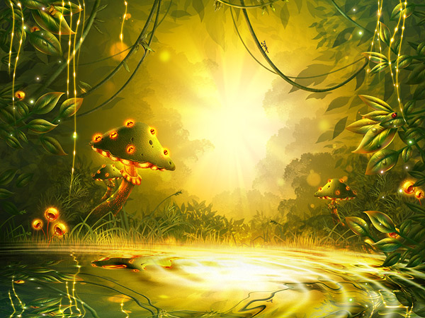 How to Create a Fantasy Game Background in Adobe Photoshop