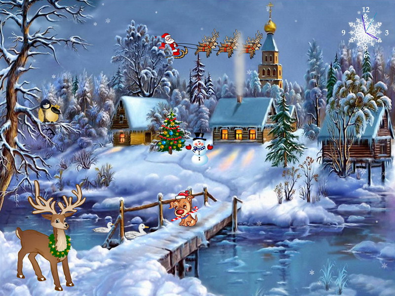 25 Animated christmas wallpapers free download