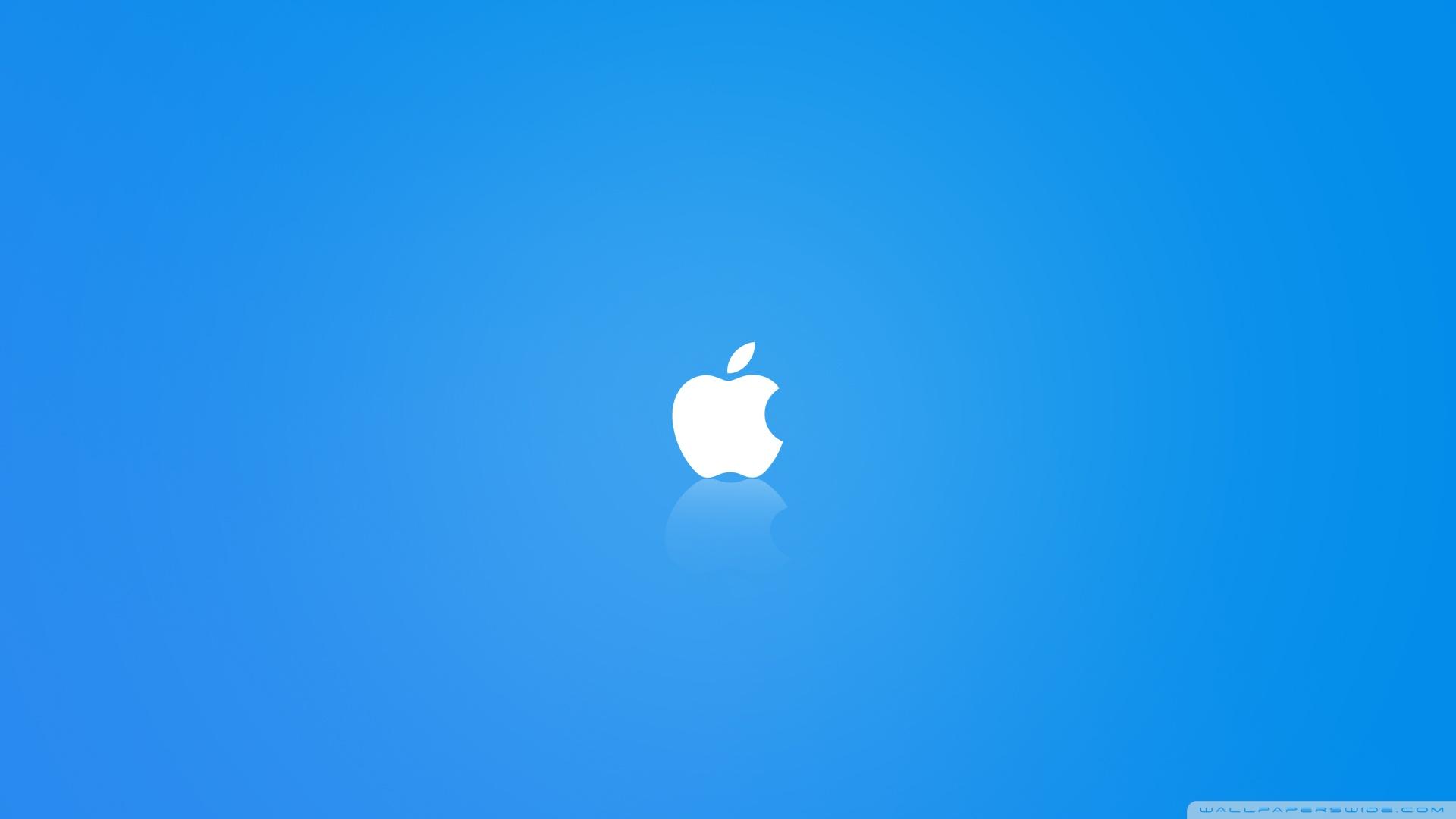 Apple MAC OS X Blue HD desktop wallpaper : Widescreen : High