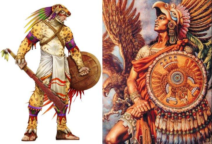 Fearsome Aztec Eagle Warriors And Jaguar Warriors Of Mesoamerica