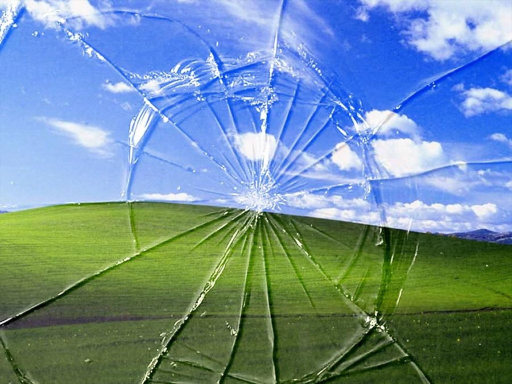 cracked computer screen wallpaper